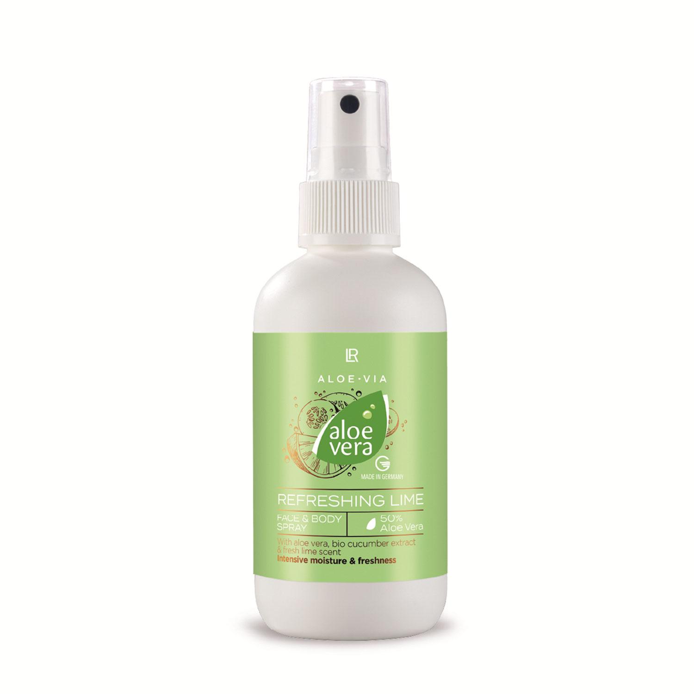 LR Health Beauty Aloe Vera Okurka Limeta Hydratační sprej na obličej a tělo 100ml